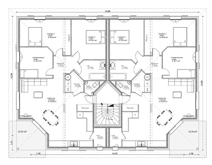 Plan interieur rdc appartements a vendre saint pierre en faucigny
